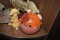 Свеча интерьерная ручной работы Шар в цветах