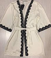 Очаровательный халат с французским кружевом
