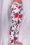 Белые джинсы с цветочным принтом, фото 2