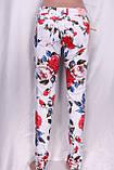Білі джинси з квітковим принтом, фото 3