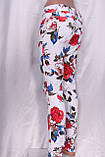 Белые джинсы с цветочным принтом, фото 5
