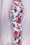Білі джинси з квітковим принтом, фото 5