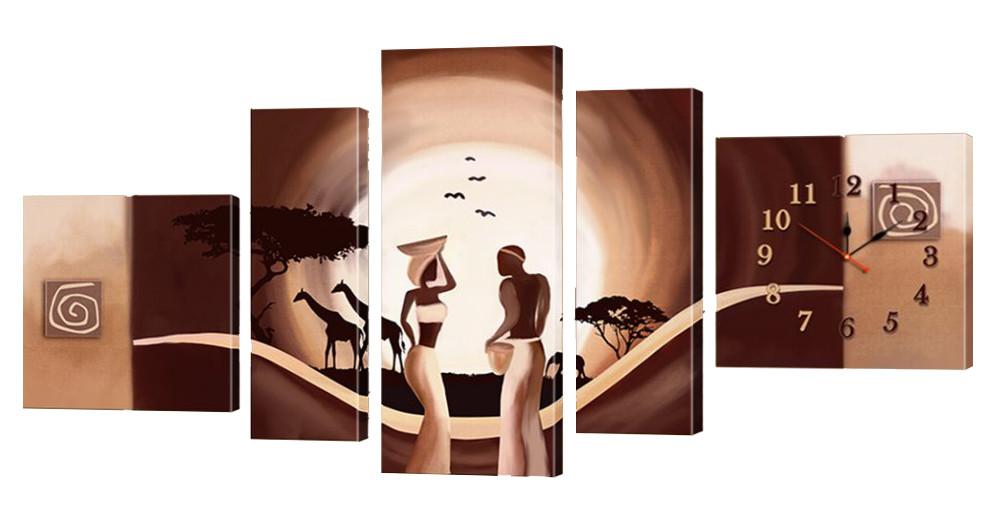 Часы-модульная картина 157 (185x95 см)