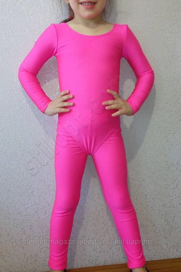 Купальник гимнастический детский  бифлекс розовый