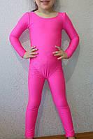 Купальник гимнастический детский  бифлекс розовый, фото 1