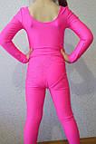 Купальник гимнастический детский  бифлекс розовый, фото 3