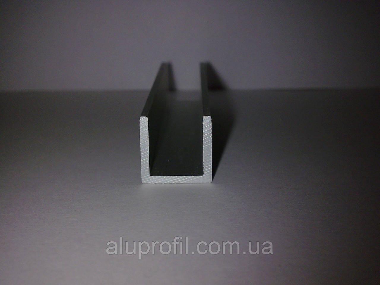 Алюминиевый профиль — п-образный алюминиевый профиль (швеллер) 15х10x1,5 AS