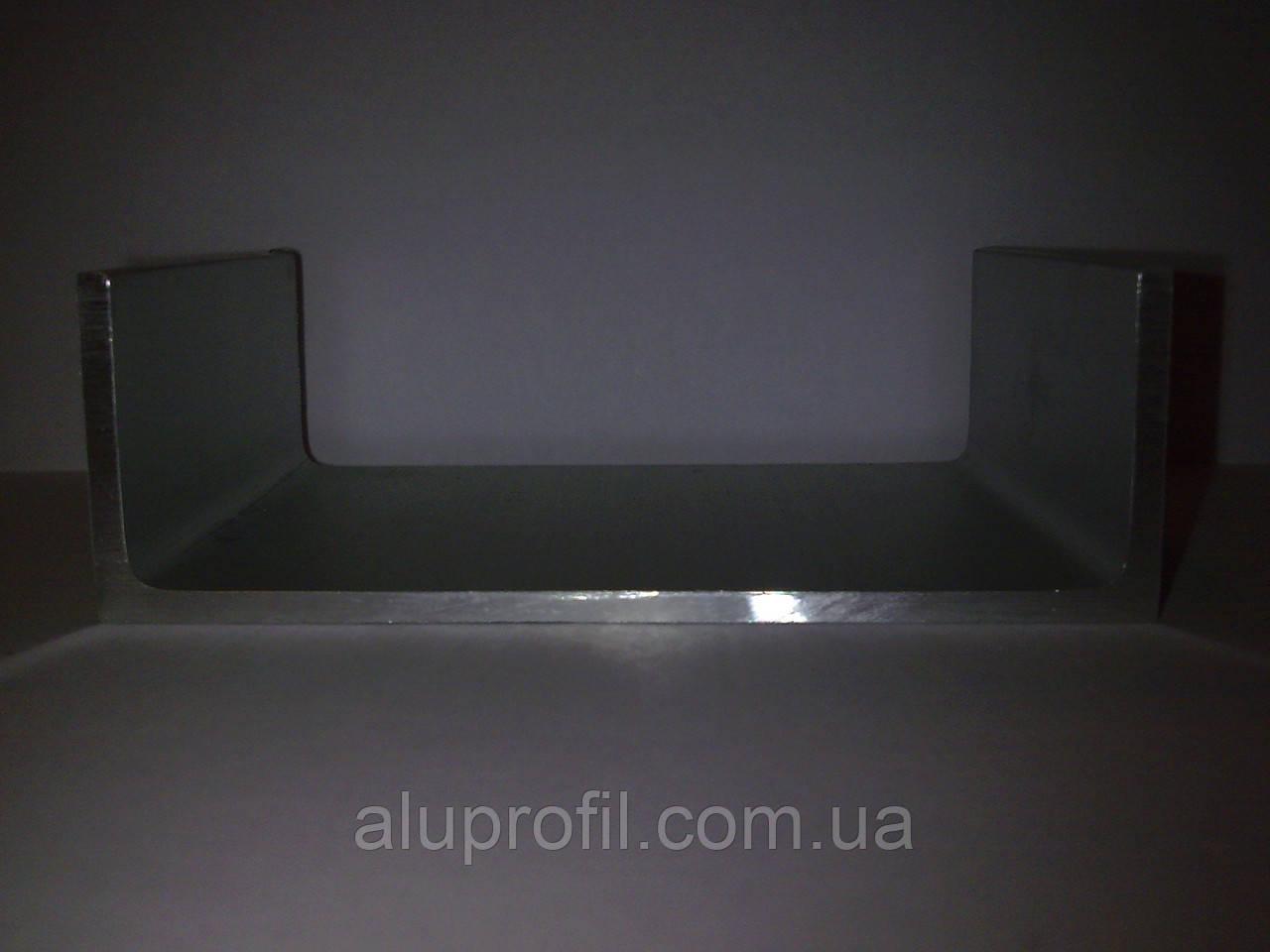 Алюминиевый профиль — п-образный алюминиевый профиль (швеллер) 70х25x3 Б/П