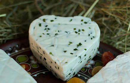 Zinka козий cыр полутвёрдый /сердечко с зеленью 220g/, фото 2