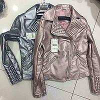Куртка экокожа Zara с шипами Два цвета