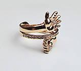 Кольцо  женское серебряное Ручка и Ножка Младенца КЦ-19 Б, фото 5