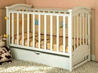 Кроватка для новорожденных маятник Prestige 2 белая