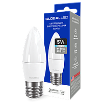 Лампа светодиодная  1-GBL-4100-27 С37 CL-F 5Вт GLOBAL