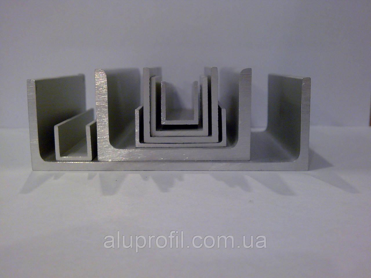 Алюминиевый профиль — швеллер размером 100х50x5 Б/П