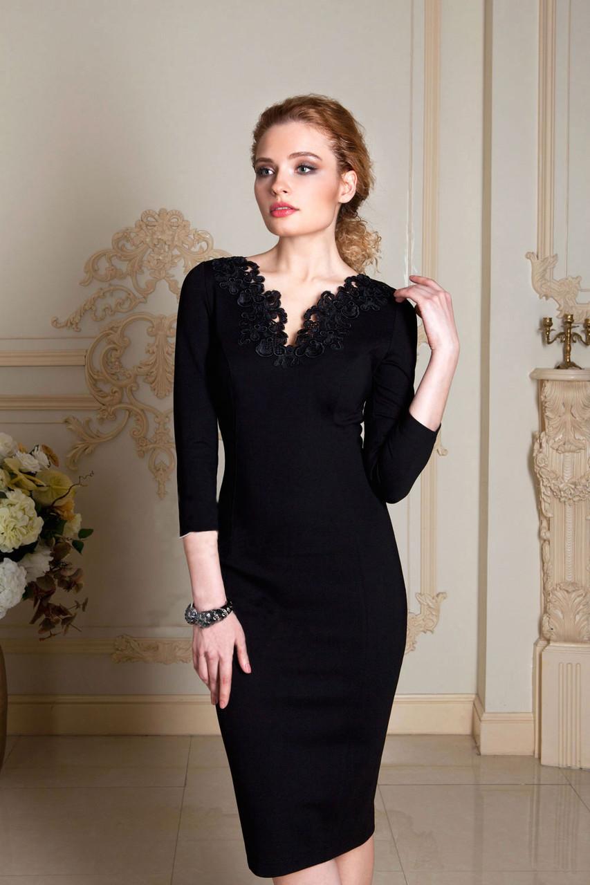 08d43c398520af8 Купить Милое классическое платье с кружевом 187 в Киеве от компании ...