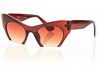 Очки солнезащитные женские miu miu глянцевые коричневые