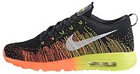 Мужские спортивные кроссовки Nike Air Max Flyknit Running Найк Аир Макс Флайнит черные