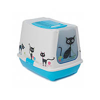 Туалет Moderna Trendy Cat Friends Forever для кошек закрытый, 50х39х37см