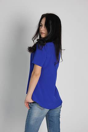 """Жіноча блузка з коротким рукавом електрик тм """"Tasani"""", фото 2"""