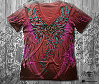 Женская футболка двухсторонняя KRASAR- АНГЕЛ (КРАСНАЯ)