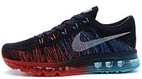 Мужские спортивные кроссовки Nike Air Max Flyknit Найк Аир Макс Флайнит черные