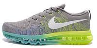 Мужские спортивные кроссовки Nike Air Max Flyknit Найк Аир Макс Флайнит серые