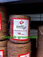 """Шпагат джутовий на паперовій шпулі """"Jute RD 100 гр/35 м. діаметр нитки -3 мм."""