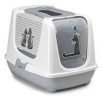Туалет Moderna Trendy Cat Cats in Love для кошек закрытый, 50х39х37см