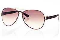 Женские солнцезащитные очки реплика капли коричневый/золото