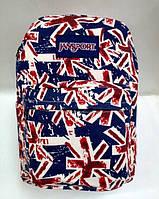 Рюкзак молодежный с принтом британского флага с внешним и боковыми карманами