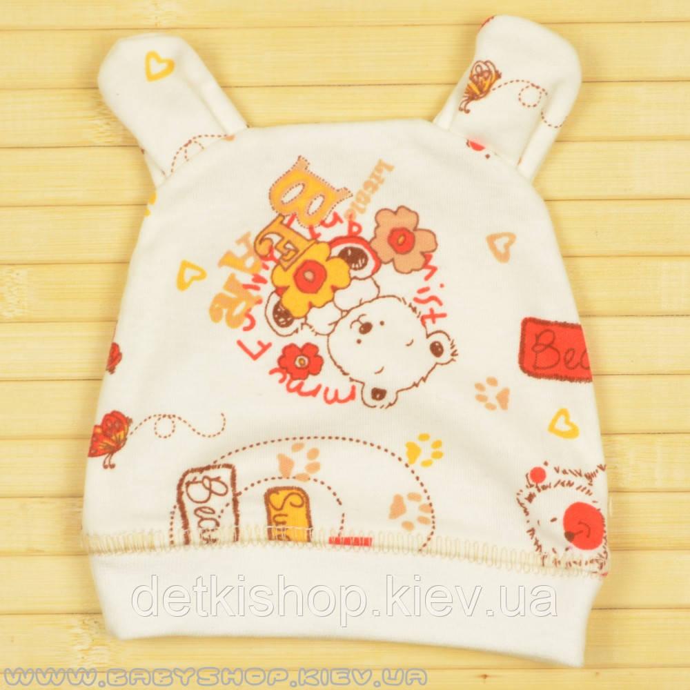 Шапочка с ушками для новорожденного (Bear)