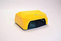 LED+CCFL лампа для маникюра и педиюра комбинированная (Желтая)