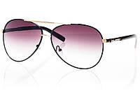 Женские солнцезащитные очки реплика капли черный/золото