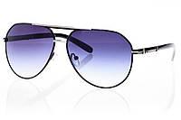 Женские солнцезащитные очки реплика капли черный/серебро