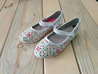 Туфли на девочку легкие в дырочку белые 26, 27, 28, 29, 30, 31 размер