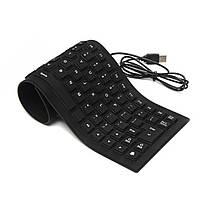Гибкая силиконовая клавиатура UKC Flexible Keyboard 6966, фото 1