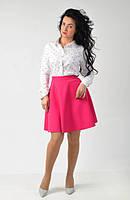 Розовая женская юбка клеш