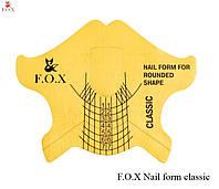 Формы для наращивания ногтей FOX 500 шт