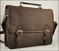 Мужской портфель кожаный, сумка ALWAYS WILD