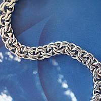 Серебряный мужской браслет, 205мм, 23 грамма, плетение Бисмарк