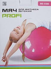 Детский мяч для фитнеса-45см MS 0380 Мяч-прыгун детский надувной с рожками, фото 2