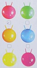 Детский мяч для фитнеса-45см MS 0380 Мяч-прыгун детский надувной с рожками, фото 3