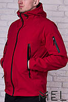Брендовая мужская куртка MEL - Softshell - красная