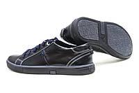 Мужские кожаные черные туфли на шнурках Мальва