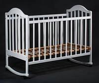 Кроватка детская Наполеон б/ящ белая, Ласка-М