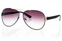 Женские солнцезащитные очки капли темно-коричневый градиент