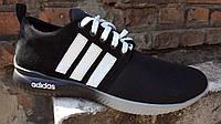 Мужские кроссовки адидас (черные), фото 1