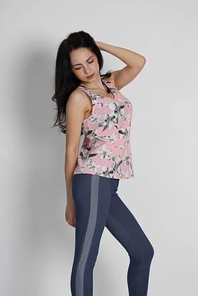 """Женская блузка - безрукавка """"Tasani"""" цветочный принт, фото 2"""