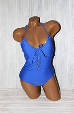 Эффектный цельный женский купальник, фото 3