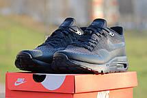 Модные кроссовки Nike Air Max 1 Flyknit, темно синие, летние, фото 3